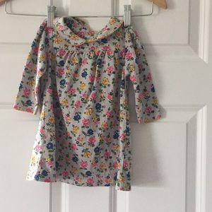 Baby's Boden girls floral dress round collar